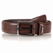 Mens Classic Brown Leather Belt Made by Dents Style 8-1047